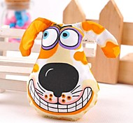 Lovely Different Puppy Pattern Shaped Canvas Chewing Toys for Pet Dogs(Assorted Colours)