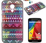 Stripe Pattern PC Back Cover Case With Dustproof plug for Motorola G2