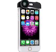 Phone Photo Lens 180° Fisheye Camera 0.67X Wide Angle 10X Macro Set with Bag for iPhone 6