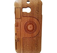 Kyuet Bamboo Case Natural Superior Bamboo Laser Engraving M1 Camera Shell Cover Skin Cell Phone Case for Htc One M8