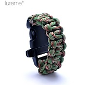 Lureme® Paracord Camouflage Survival Whistle Cord for Children Bracelet