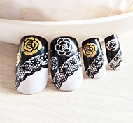 10PCS Mix Gold and Silver Camellia Nail Art Stick
