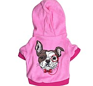 Dog Hoodies - XS / S / M / L - Winter - Blue / Pink Cotton