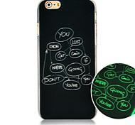 inglese lettera logo modello Luminated caso duro posteriore per iPhone 6