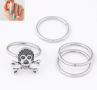 European Style Personality Skeleton Metal Ring (4PCS)