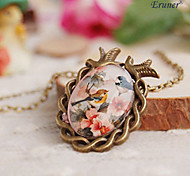 Eruner® Handmade Vintage Women's Retro Glass Dome Cabochon Pendant Necklace
