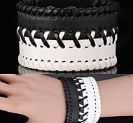 u7® Oldtimer-Armband aus echtem Leder Armband 3 Größen verstellbar Armband für Männer \ Frauen Schmuck