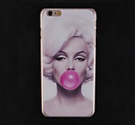 Beauty to Blow Bubble Gum Painting Design Pattern Hard Cover Case for iPhone 6 Plus