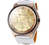 Women's Big Round Gear Case Roman Number Dial PU Band Analog Quartz Fashion Watch Cool Watches Unique Watches