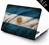 Argentinien Flagge Muster Ganzkörper-Schutz-Kunststoffgehäuse für 11-Zoll / 13 Zoll neue Mac Book Luft