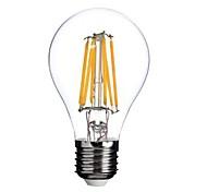 ON E26/E27 6 W 6 COB 600 LM Warm White A Dimmable LED Filament Lamps AC 220-240/AC 110-130 V