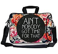 "Elonbo Flower Carrying Handle & Removable Shoulder Strap Laptop Bag with Extra Side Pocket for 13"" Macboob pro HP"
