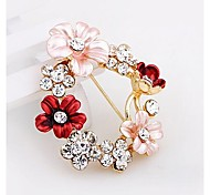Fashion Diamond Flower  Alloy Brooch (1pc)