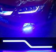 """2pcs 180mm 7w 600-700lm """"z"""" Tagfahrlicht blaue Farbe Hochleistungskolben TFL wasserdicht Tageslicht (dc10-16v)"""