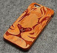 Pear Wood Tiger Face Hard Back Cover for iPhone 6/6S