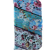 Floral Green Wood Pattern PU Leather Case and Mini Display Stand with Diamond Dust Plug for iPhone 4/4S
