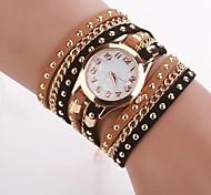 Women's  Small  Round  Dial  Diamante Mushroom Circuit   Flocking  Chain Band Quartz  Watch C&d339