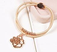 Fashion Lady Rose Plastic Charm Bracelet(1pc)(more colors)