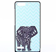 Elephant Pattern PC Hard Case for Huawei G6