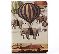 Balloons And Elephant Pattern PU Leather Full Body Case with Stand  for iPad Mini 1/2/3