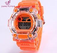 Women's Round Dial Plastic Rubber Quartz Wristwatch (Assorted Colors)