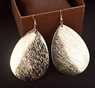 Mode einfachen Zuckerguss Form Legierung Ohrringe (Gold, Silber) (1 Paar)