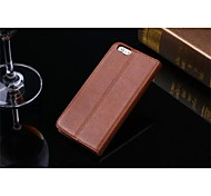 New Head Layer Cowhide Litchi Grain Business and Leisure Flip Stents Mobile Phone Holster for iPhone 6 (Assorted Color)