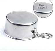 Personalized  Gift 150ml Silver Stainless Steel Cup Key Buckle
