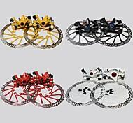 frenos delanteros oeste biking®bicycle disco mtb freno y disco traseros + 2 discos de frenos pastillas + tornillos de freno de disco de ciclismo