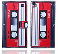 5.2 Inch Cassette Pattern PU Wallet Leather Case for Sony Xperia Z3