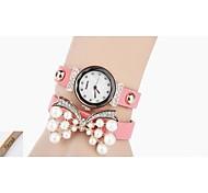 pu pulseira de couro das mulheres personalizadas do presente do relógio gravado com strass