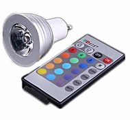 GU10 3W 3 High Power LED 330 LM RGB LED Spotlight AC 100-240 V