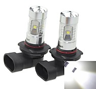 2x 9005 HB3 P20D 30W 6xCREE Cold White 2100LM 6500K for Car Fog Light (AC/DC12V-24)