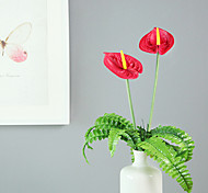 Multi-colored PU Anthurium,3Pcs/set