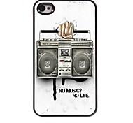 caso duro de radio diseño de aluminio para el iphone 4 / 4s