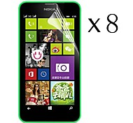[8-Pack] High Transparency LCD Crystal Clear Screen Protector with Cleaning Cloth for Nokia Lumia 630/635/638/636