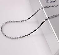 eruner®unisex em forma de s 2 milímetros de prata colar de corrente no.46