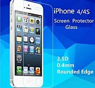 2.5d de haute qualité bord rond 0,4 mm antidéflagrants trempé film protecteur d'écran en verre pour iPhone 4 / 4S