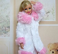 Casual Dresses For Barbie Doll Pink For Girl's Doll Toy