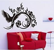 preto azaléia sala de estar autocolante decorativo