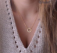 Eruner®Classic Circle Shape Alloy Pendant Necklace,Tiny Necklace