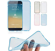 df 0,3 mm ultradelgada caso transparente de TPU suave para el iphone 6 (colores surtidos)