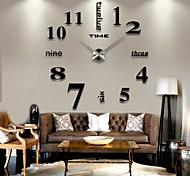 2015 3D Large Mental Home Decor DIY Creative Personality Wall Clock for Living Room 12S015-S