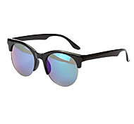 Mirrored Browline Plastic Fashion Sunglasses