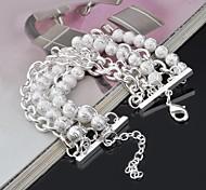 Women's Bracelets  Multilayer Alloy Beading  Handmade Bracelet