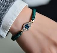 Fashion Women Evil Eye Plaited Bracelet