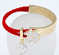 Fashion Sweet Flash Diamond Bead Clover SimpleWild Bracelet