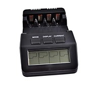 "BM110 2.5"" Intelligent Digital Battery Charger LCD Multifunction for 4PCS AA/AAA Rechargeable Batteries (Black)"