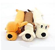 Lovely Puppy Shaped Squeaking Chewing Plush Toy for Pet Dogs(Random Colour)
