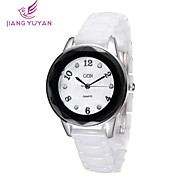 donne di marca di lusso gedi® orologi bianco reale strass banda ceramica quarzo quadrante rotondo guarda le donne